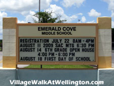 Wellington's well-regarded Emerald Cove middle school is just a short drive from Village Walk.